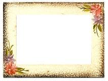 变老的花卉框架葡萄酒 库存照片