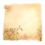 变老的花卉纸张 免版税库存图片