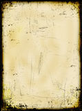 变老的被烧的纸张 免版税图库摄影