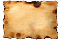变老的被烧的纸纹理 库存照片