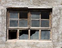 变老的视窗 免版税库存照片