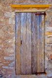 变老的门grunge海运数据条被风化的木头 免版税图库摄影