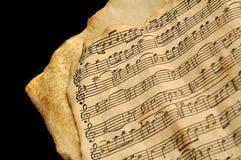 变老的音乐纸张 库存照片