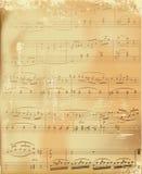 变老的音乐纸张 向量例证