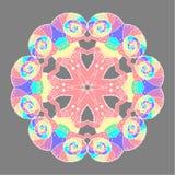 变色蜥蜴圆pattern1 免版税库存图片