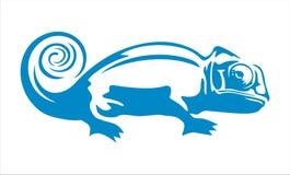变色蜥蜴蓝色 免版税库存图片