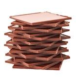 变褐巧克力金字塔长方形平板 库存图片