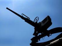 变褐M2 50口径机枪 库存照片