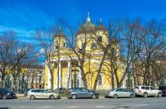 变貌大教堂在圣彼德堡 图库摄影