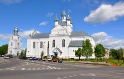 变貌大教堂在斯洛尼姆镇  迟来的 库存图片