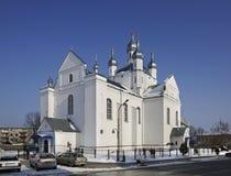 变貌大教堂在斯洛尼姆 迟来的 库存图片
