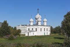 变貌大教堂在Belozersk克里姆林宫沃洛格达州地区 库存照片