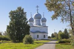 变貌大教堂在Belozersk克里姆林宫沃洛格达州地区 库存图片