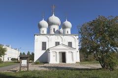 变貌大教堂在Belozersk克里姆林宫沃洛格达州地区 免版税库存照片