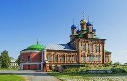 变貌大教堂大教堂在Usolie镇  免版税库存图片