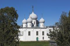 变貌大教堂Belozersky克里姆林宫沃洛格达州地区 库存图片