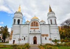 变貌我们的救主, 11世纪,切尔尼戈夫,乌克兰的大教堂, 库存照片