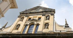 变貌教会在利沃夫州市,乌克兰 免版税图库摄影