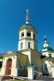 变貌教会在市伊尔库次克 图库摄影