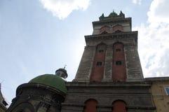 变貌教会老石大厦 库存图片
