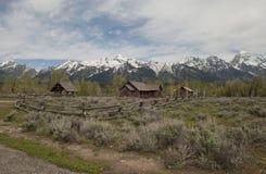 变貌教堂在盛大Tetons国家公园 免版税库存图片
