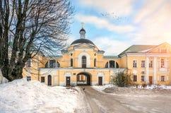 变貌的教会在一个修道院里在特维尔 库存照片