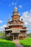 变貌的教会从19世纪Kozlyatyevo村庄的在木建筑学博物馆在苏兹达尔,俄罗斯 库存照片