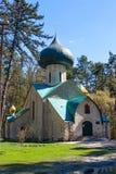 变貌, XX世纪初期的教会  Vladimirovka,哈尔科夫地区,乌克兰村庄  库存照片