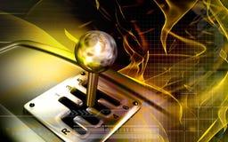 变速杆移动通信工具 免版税库存照片