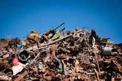 变紧密的铁金属回收报废 免版税库存照片