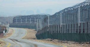 叙利亚和以色列的边界 有军事哨所和联合国战士的高篱芭 影视素材
