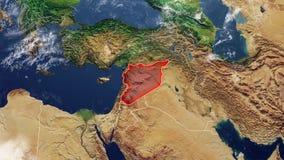 叙利亚和边界地图  向量例证