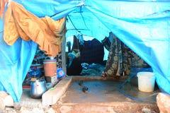 叙利亚土耳其边界在Reyhanli -非法难民营 免版税库存照片