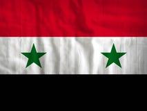叙利亚旗子织品纹理纺织品 图库摄影