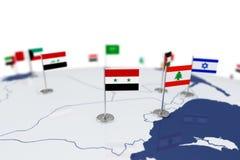 叙利亚旗子 库存图片