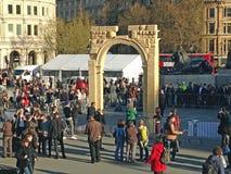 叙利亚曲拱在特拉法加广场,伦敦 免版税库存照片