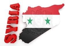 叙利亚的地图例证有地图的 库存照片