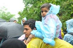 从叙利亚的小难民 免版税库存照片