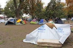 叙利亚难民营 库存图片