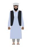 叙利亚难民 巴基斯坦国民衣裳的居民 阿富汗尼 向量例证
