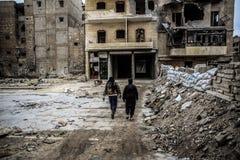 叙利亚:阿尔凯达在阿勒颇 图库摄影