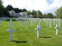 叙雷讷,法国,欧洲美国公墓和纪念品的看法  库存图片