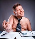 离经叛道之人的赤裸上身的商人 免版税库存图片