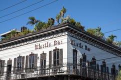 口哨酒吧在基韦斯特岛 库存照片