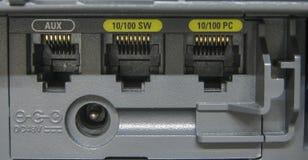口岸为连接IP电话 库存照片