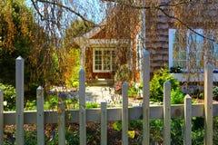 口岸唐森, WA - 2014年4月12日:维多利亚女王时代的样式房子外部  口岸Townsend, WA 免版税库存照片