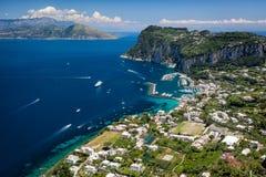 口岸在卡普里岛,意大利 库存照片