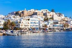 口岸在纳克索斯,希腊 免版税库存图片