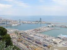 口岸在巴塞罗那 库存图片