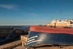 口岸在索维拉,摩洛哥 库存照片